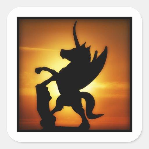 Sunset Unicorn Sticker