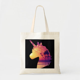 Sunset unicorn tote bag