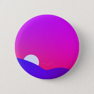 sunset v2 6 cm round badge