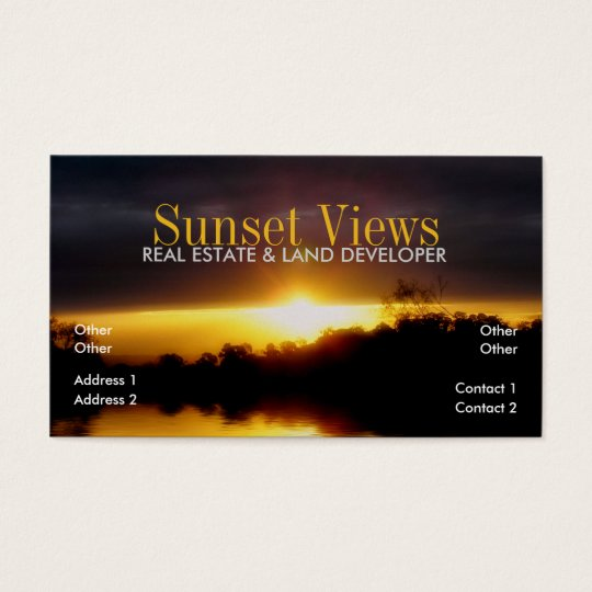 Sunset Views Business Card