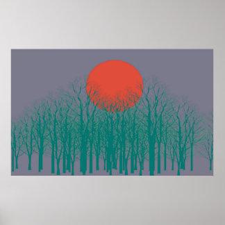 Sunset Vintage Poster