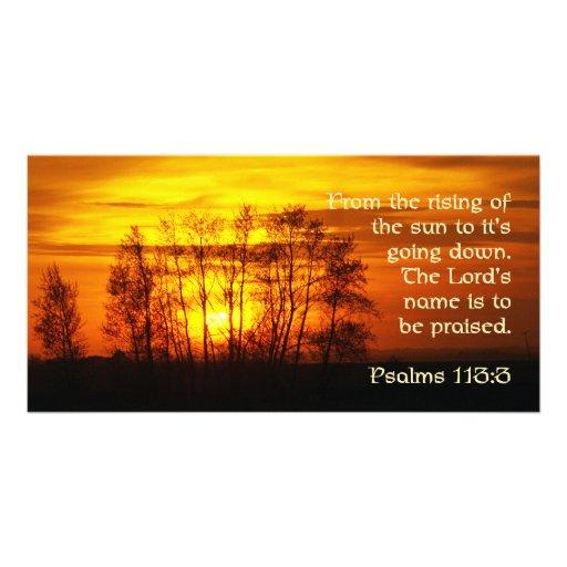 Sunset w/bible verse photo card