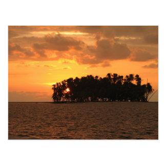Sunset, W Coco Banderos, Kuna Yala, Panama Postcard