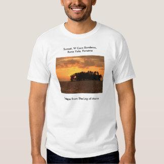 Sunset, W Coco Banderos, Kuna Yala, Panama T-shirt