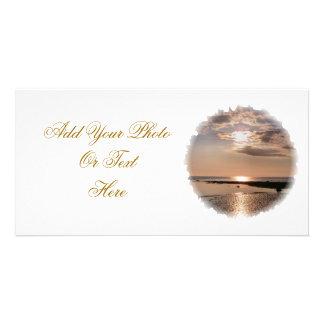 SUNSET WALES UK PHOTO GREETING CARD