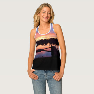 sunset walk racertank tank top
