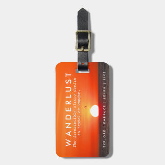 Sunset Wanderlust Definition Travel Luggage Luggage Tag