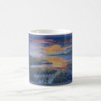 Sunset, water, serene, reflections coffee mug