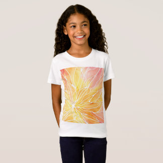 Sunset Watercolour Marble Break T-Shirt