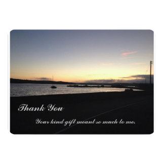 Sunset West Cork, Ireland- Thank you Card 13 Cm X 18 Cm Invitation Card