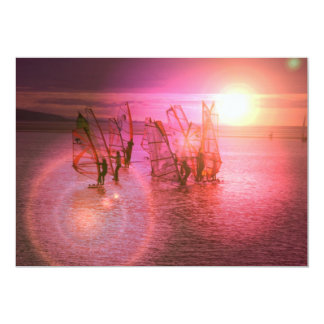"Sunset Windsurfing Invitation 5"" X 7"" Invitation Card"