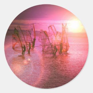 Sunset Windsurfing Sticker