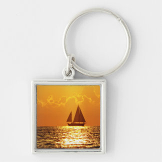 Sunset with Boat Keychains