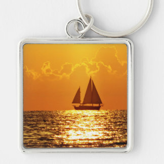 Sunset with Boat Key Chain