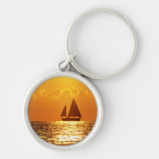 Sunset with Boat Key Chains