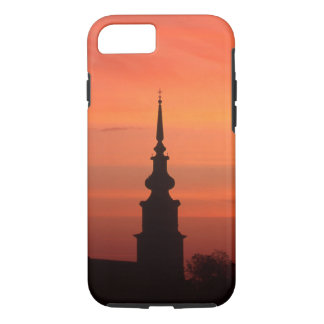 Sunset with church for Iphone case