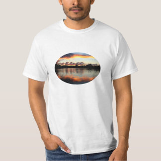 Sunset with Clouds Over a Lake T-shirt