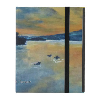Sunset with Ducks iPad Cover