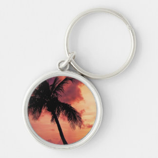 Sunset with Palm Keychain