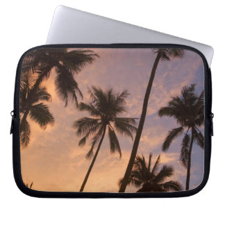 Sunset with Palm Trees, Moorea, French Polynesia 2 Laptop Sleeve