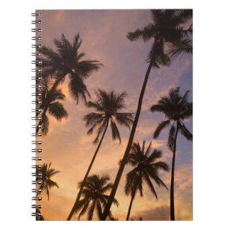 Sunset with Palm Trees, Moorea, French Polynesia 2 Notebook