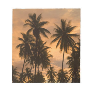Sunset with Palm Trees, Moorea, French Polynesia Notepad