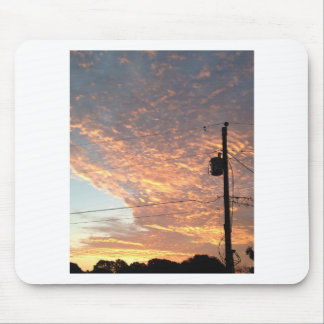 Sunset with powerline mouse pad