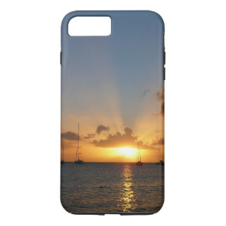 Sunset with Sailboats Tropical Landscape Photo iPhone 8 Plus/7 Plus Case
