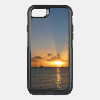 Sunset with Sailboats Tropical Landscape Photo OtterBox Commuter iPhone 8/7 Case
