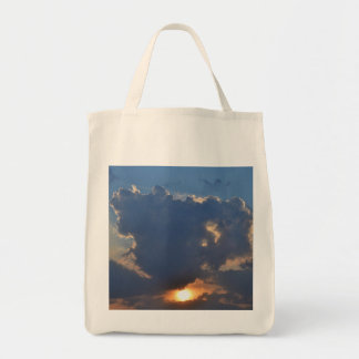 Sunset With Teacup Cloud Formation Bags