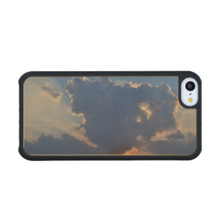 Sunset With Teacup Cloud Formation Carved® Maple iPhone 5C Slim Case
