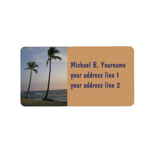 Sunset With Trade Winds Address Label