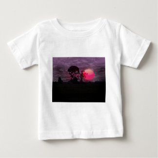 Sunset With Tree Baby T-Shirt