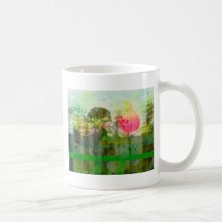 Sunset With Tree Coffee Mugs