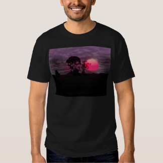 Sunset With Tree T Shirts