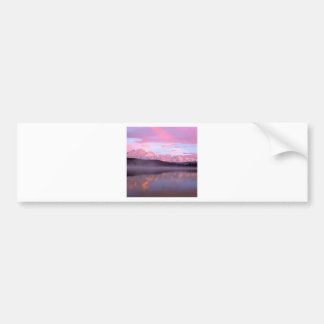 Sunset Wonder Lake Mount Denali Bumper Sticker