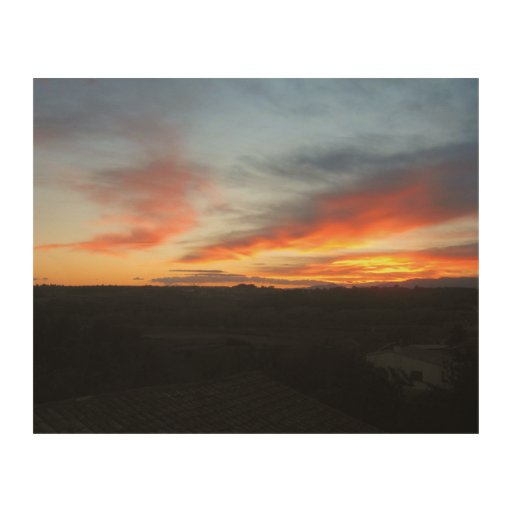 Sunset Wood Wall Art by IreneDesign2011 Wood Prints