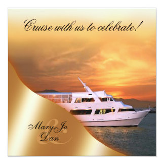 Sunset Yacht Wedding Nautical Card