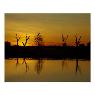 Sunset, Yellow Water Billabong 2 Poster