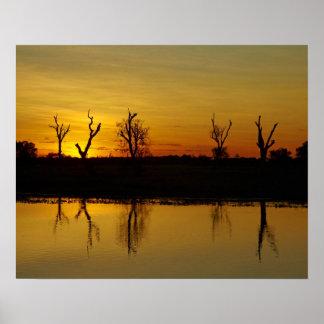 Sunset Yellow Water Billabong 2 Print