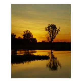 Sunset, Yellow Water Billabong 3 Poster