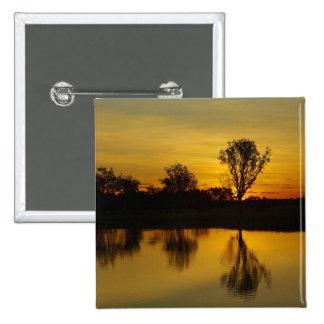 Sunset, Yellow Water Billabong 15 Cm Square Badge