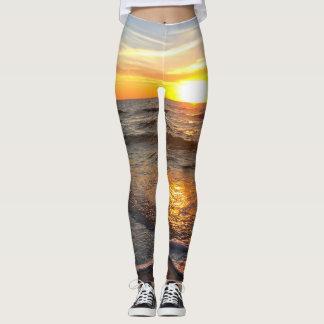 sunset yoga leggings