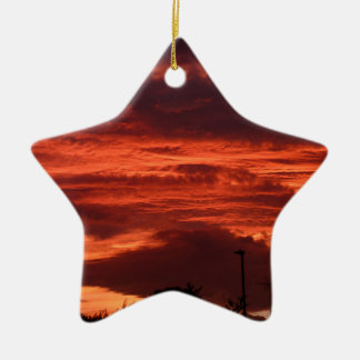 Sunset Yorkshire landscape Christmas Ornament