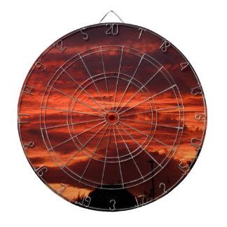 Sunset Yorkshire landscape Dartboard