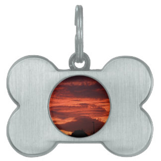 Sunset Yorkshire landscape Pet ID Tag