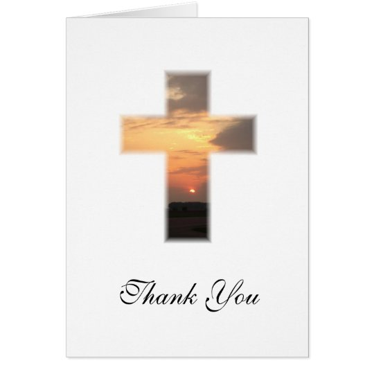 SunsetCross1, Thank You Card