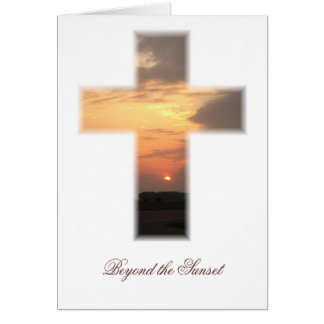 SunsetCrossMP Beyond the Sunset Greeting Cards
