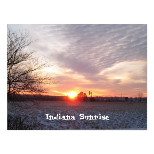 sunsetindiana, Indiana Sunrise Postcard
