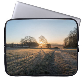 Sunsets morning laptop sleeve